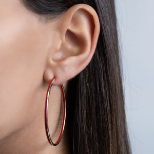 Large Enamel Hoop Earring - Adina's Jewels