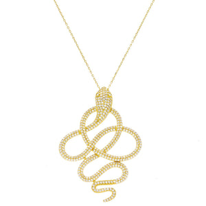 Gold Twisted Snake Necklace - Adina's Jewels