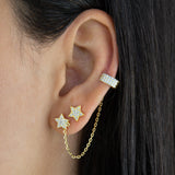 Pavé Star Stud X Ear Cuff Combo Set - Adina's Jewels