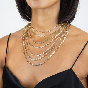 Paperclip Chain Necklace 14K - Adina's Jewels