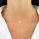 Dainty Solid Star Necklace 14K - Adina's Jewels