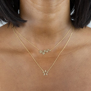 Open Star Necklace 14K - Adina's Jewels