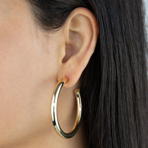 Large Hollow Hoop Earring - Adina's Jewels