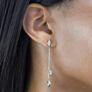 Diamond Cut Drop Earring 14K  - Adina's Jewels