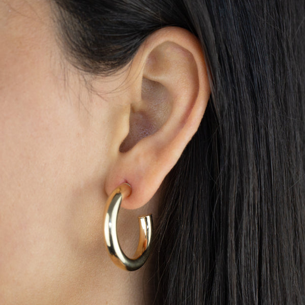 Thick Hollow Hoop Earring - Adina's Jewels