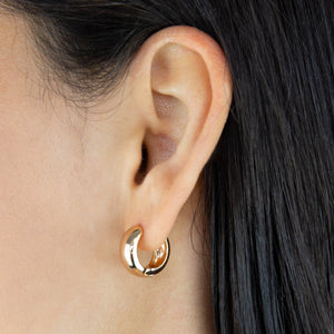 Solid Wide Huggie Earring - Adina's Jewels
