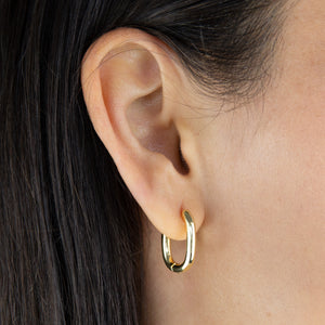 Solid Link Hoop Earring - Adina's Jewels