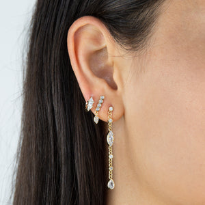 Pavé Teardrop Stud Earring - Adina's Jewels