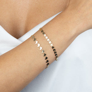 Solid Multi Star Bracelet 14K - Adina's Jewels