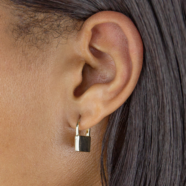 Lock Huggie Earring  - Adina's Jewels
