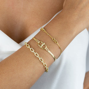 Pavé Box Link Bracelet - Adina's Jewels