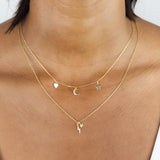 Star X Lightning Necklace - Adina's Jewels