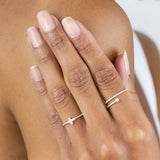Diamond Stone Wrap Ring 14K - Adina's Jewels
