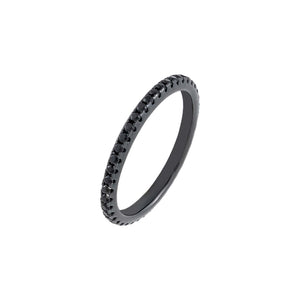 Onyx / 5 Onyx CZ Thin Ring - Adina's Jewels
