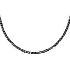 "Onyx / 3 MM / 16"" Onyx Tennis Necklace - Adina's Jewels"