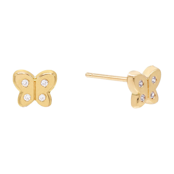 14K Gold / Single Butterfly Stud Earring 14K - Adina's Jewels