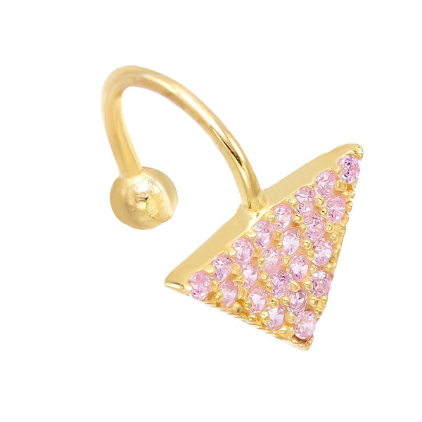 Light Pink Triangle Stone Ear Cuff - Adina's Jewels