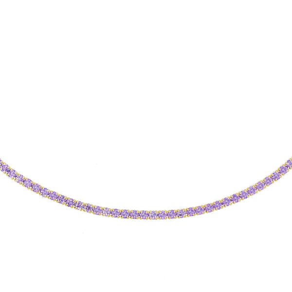 Pastel Tennis Choker  - Adina's Jewels