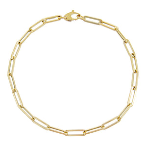 14K Gold Paperclip Chain Anklet 14K - Adina's Jewels