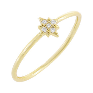 Gold / 6 Pave Mini Starburst Ring - Adina's Jewels