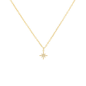 Gold Pavé Opal Charm Necklace - Adina's Jewels