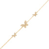 Gold Pavé Triple Butterfly Bracelet - Adina's Jewels