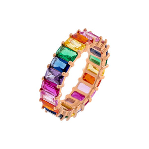 Multi-Color / 5 Rainbow Ring - Adina's Jewels
