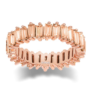 Crystal Colored Baguette Eternity Band Champagne / 5 - Adina's Jewels