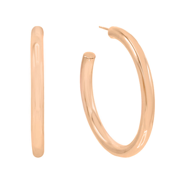 Rose Gold / 50 MM Large Hollow Hoop Earring - Adina's Jewels