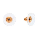 Sterling Silver Earring Backs Rose Gold - Adina's Jewels