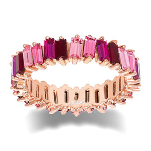 Crystal Ombré Eternity Band Magenta / 8 - Adina's Jewels