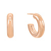 Rose Gold / 20 MM Thick Hollow Hoop Earring - Adina's Jewels