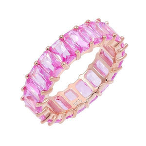 Multi Pink Eternity Bands - Adina's Jewels