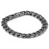 Onyx Cuban Bracelet-Men - Adina's Jewels