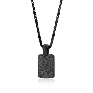 Men's Reptile Dog Tag Necklace Onyx - Adina's Jewels