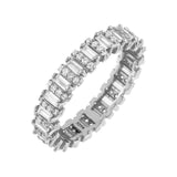 Silver / 5 Pavé Baguette Ring - Adina's Jewels