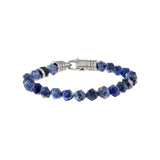 Sapphire Blue Sodalite Faceted Bead Bracelet - Adina's Jewels