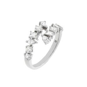 14K White Gold / 6.5 Diamond Multi Shape Ring 14K - Adina's Jewels