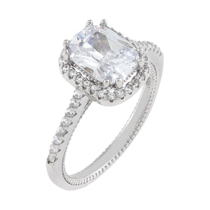 Silver / 6 Pavé Halo Travel Ring - Adina's Jewels