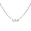 Silver / 1 Mini Nameplate Choker - Adina's Jewels