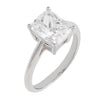 Silver / 5 CZ Emerald Cut Travel Ring - Adina's Jewels