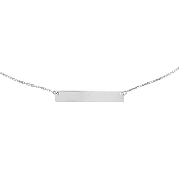 Engraved Bar Name Necklace - Adina's Jewels