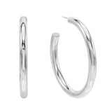 Silver / 50 MM Large Hollow Hoop Earring - Adina's Jewels