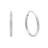 14K White Gold / 12 MM Endless Hoop Earring 14K - Adina's Jewels