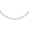 "Silver / 5 MM / 16"" Oval Link Necklace - Adina's Jewels"