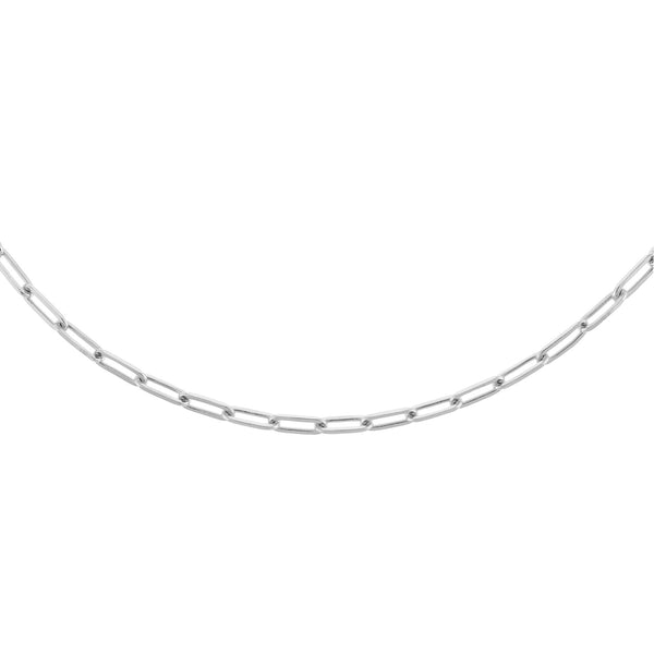"Silver / 3 MM / 17 "" Oval Link Necklace - Adina's Jewels"