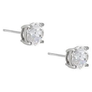 Crystal Juliette Stud Earring Silver / 8 MM - Adina's Jewels