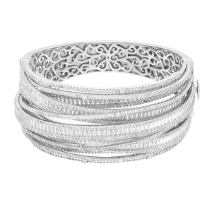 Multi Strand Baguette Bangle - Adina's Jewels