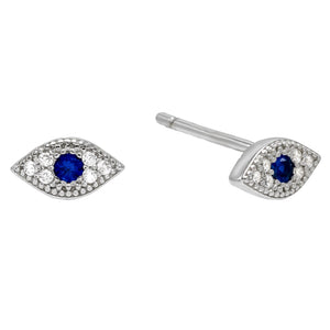 Mini Evil Eye Stud Earring  - Adina's Jewels