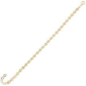 14K Gold Solid Multi Star Bracelet 14K - Adina's Jewels
